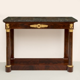 FRENCH EMPIRE MAHOGANY CONSOLE TABLE