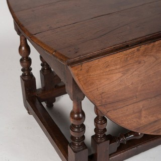 Large Antique Double Gate Leg Table, 17th Century