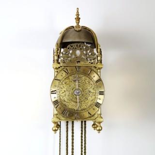 17th Century Lantern Alarm Clock by Johannes Quelch, Oxford