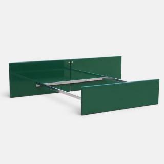 Kazuhide Takahama Green Lacquered Bed Frame for Simon, Dino Gavina, Italy 1970s