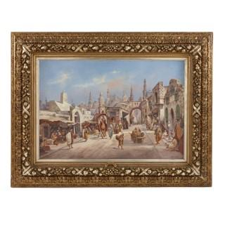 Orientalist street scene by Arthur Trevor Haddon