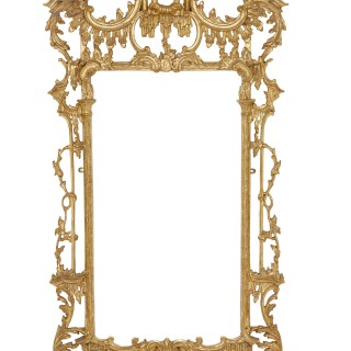 Pair of English Rococo style mirrors