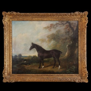 George III Oil Painting of a Horse Standing Proud in Woodland, by..... (1774-1837)