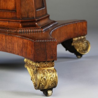 George III Rosewood and Mahogany Drum Table / Centre Table