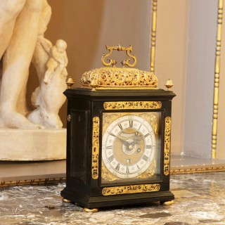 17th Century  William and ~Mary Table Clock with Alarm and Pull Quarter Repeat by.......