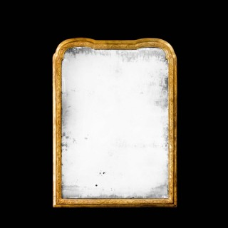 Queen Anne Period Gesso and Giltwood Pier Mirror