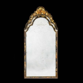 Early 18th Century Lacquered Mirror