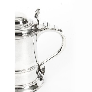Antique English George III Silver Tankard Thomas Whipham & Charles Wright 1759