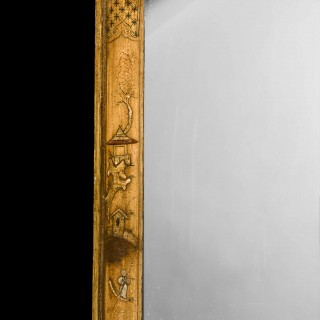 18th Century Chinoiserie Lacquered Cushion Mirror
