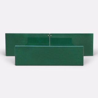 Kazuhide Takahama Green Lacquered Bed Frame for Simon, Dino Gavina, Italy 1970s