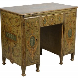 18th Century Venetian knee hole desk.
