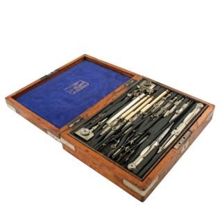 Walnut Cased Drawing Instruments