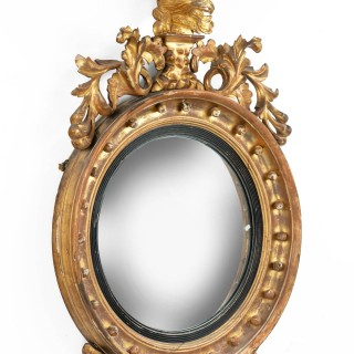 A Regency Period Convex Circular Mirror
