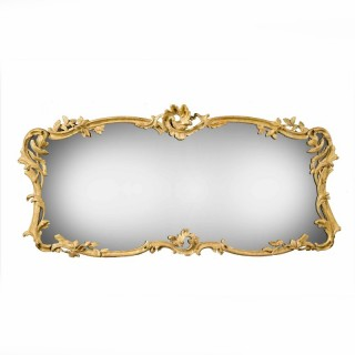 A Chippendale Period Overmantle Landscape Shaped Mirror