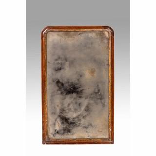 Queen Anne Period Parcel Gilt and Walnut Pier Mirror