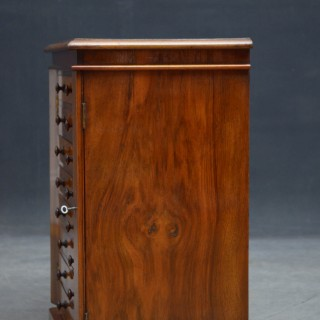 VICTORIAN COLLECTORS CABINET IN WALNUT - SMALL