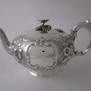 Antique Exeter Sterling silver teapot