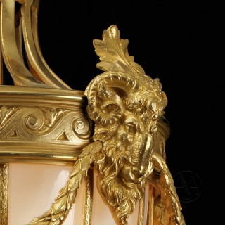 Louis XVI Style Petit Gilt-Bronze Lantern