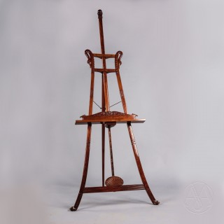 Restoration Period Mahogany Salon Easel