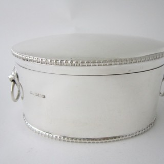 Antique George V Sterling silver biscuit box