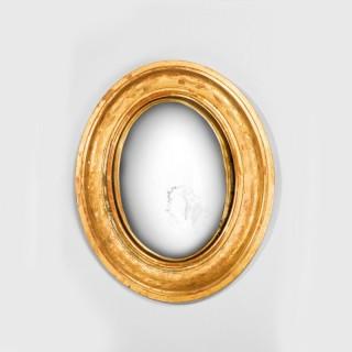 19th Century Small Convex Mirror
