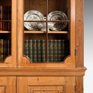 George III Period Pine Bookcase