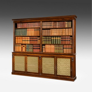 Regency period Rosewood Four Door Bookcase