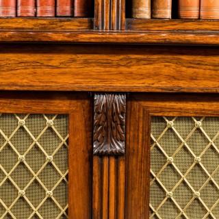 Regency period Rosewood Four Door Bookcase