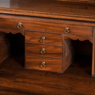 George III Period Mahogany Secretaire Bookcase, Gillows of Lancaster Attributed