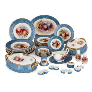 Dursley porcelain dinner set decorated by James Skerrett