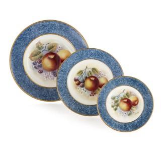 Dursley porcelain dinner set decorated by James Skerrett