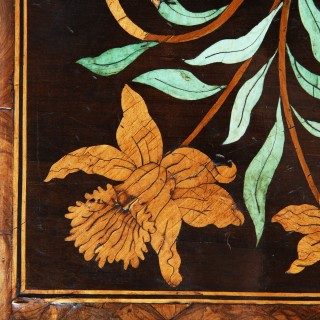 17th Century Charles II Olive Oyster Floral Marquetry Table