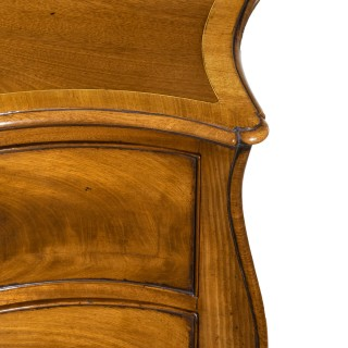 Fine George III Figured Mahogany Serpentine Commode Attributed to Henry Hill