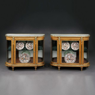 A Pair of Display Cabinets By C. Mellier & Co