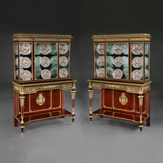 A Remarkable Pair of Display Cabinets By Henri Picard of Paris