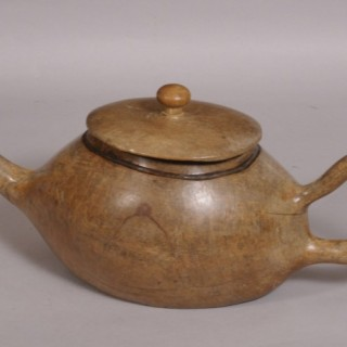 Antique Wooden Tea Pot