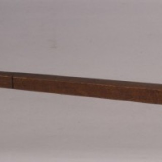 Antique Treen 19th Century Mahogany Tapered Ell Rule