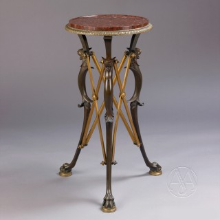 Neo-Classical Patinated and Gilt-Bronze Gueridon