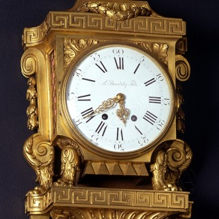 Gilt-Bronze Cartel Clock