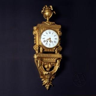 Gilt-Bronze Cartel Clock