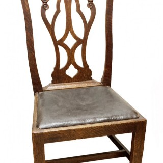 19th Century Antique Oak Hepplewhite Style Childs Chair