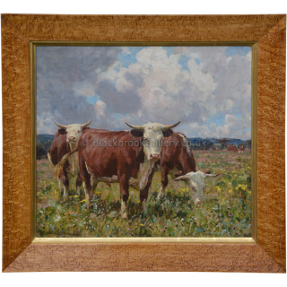 Herefords In A Meadow