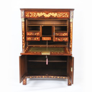 Antique Dutch Walnut Marquetry Secretaire Abattant Chest Late 18th Century