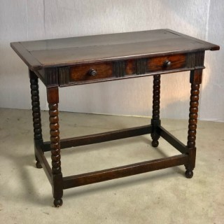 Good 17c Oak Side Table