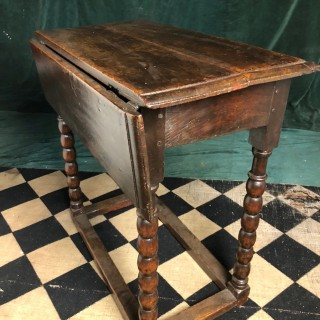 Late 17th Century Single Flap Gate Leg Table