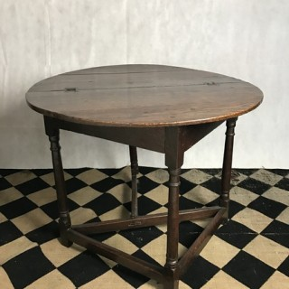 Folding Oak Table, 17th Century
