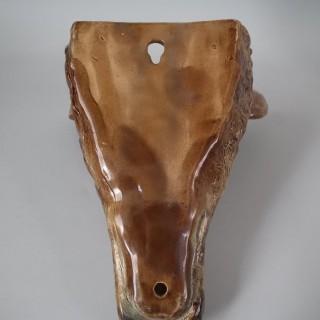 Majolica Stag Head Wall Pocket