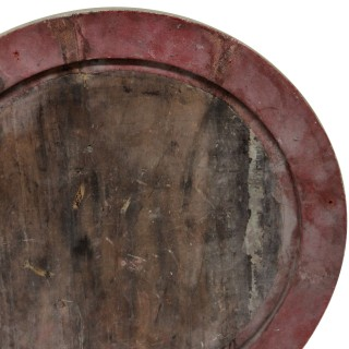 A PAIR OF CARVED & PAINTED MAHOGANY NEO-CLASSICAL ROUNDELS