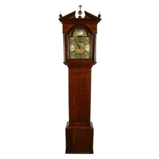 George II Brass Dial Oak Grandfather Clock