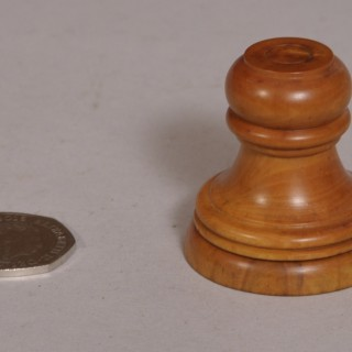 Antique Treen 19th Century Boxwood Watchmaker's Companion